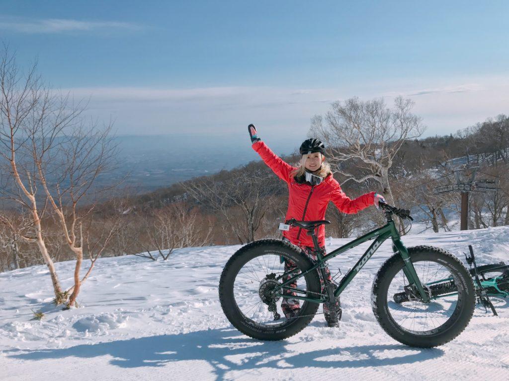 自転車でゲレンデを疾走!スノーサイクリングツアーの話